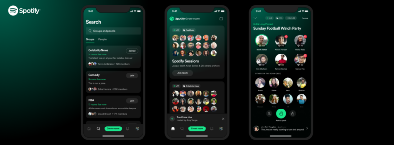 Spotify's take on Clubhouse is an audio room app called Greenroom
