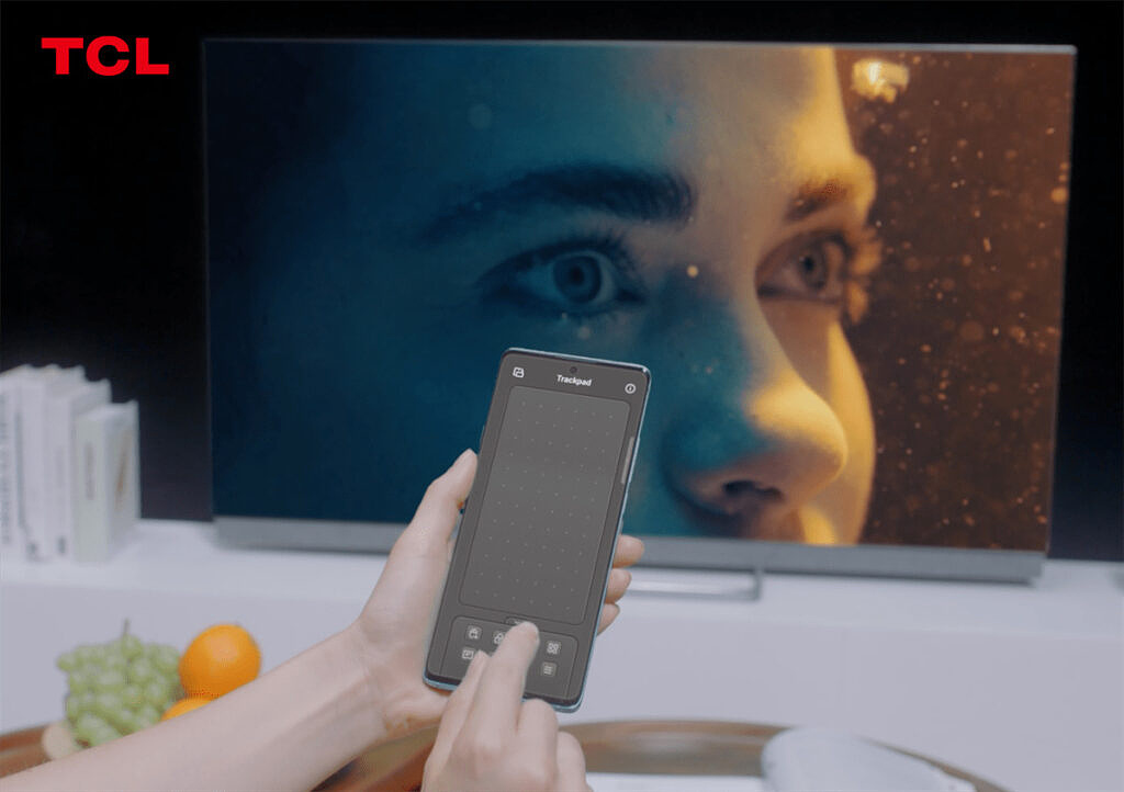 TCL Multi-Screen collaboration use phone as trackpad for TV