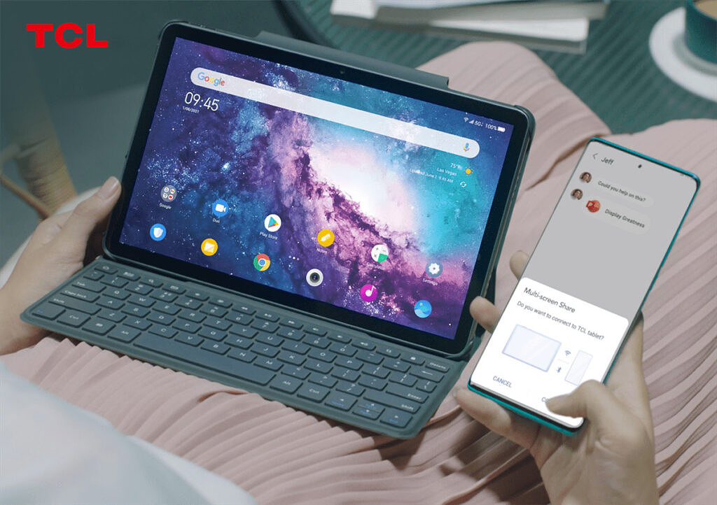 TCL multi-screen collaboration cast phone screen to tablet