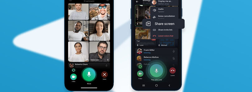 Telegram update brings group video calls and animated backgrounds