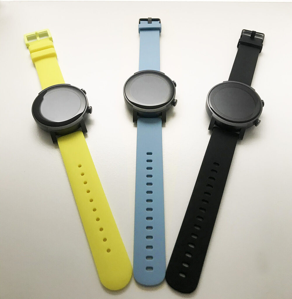 TicWatch E3 in three colorways
