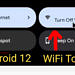 Bring back the WiFi toggle in Quick Settings on Android 12 with this Tasker project