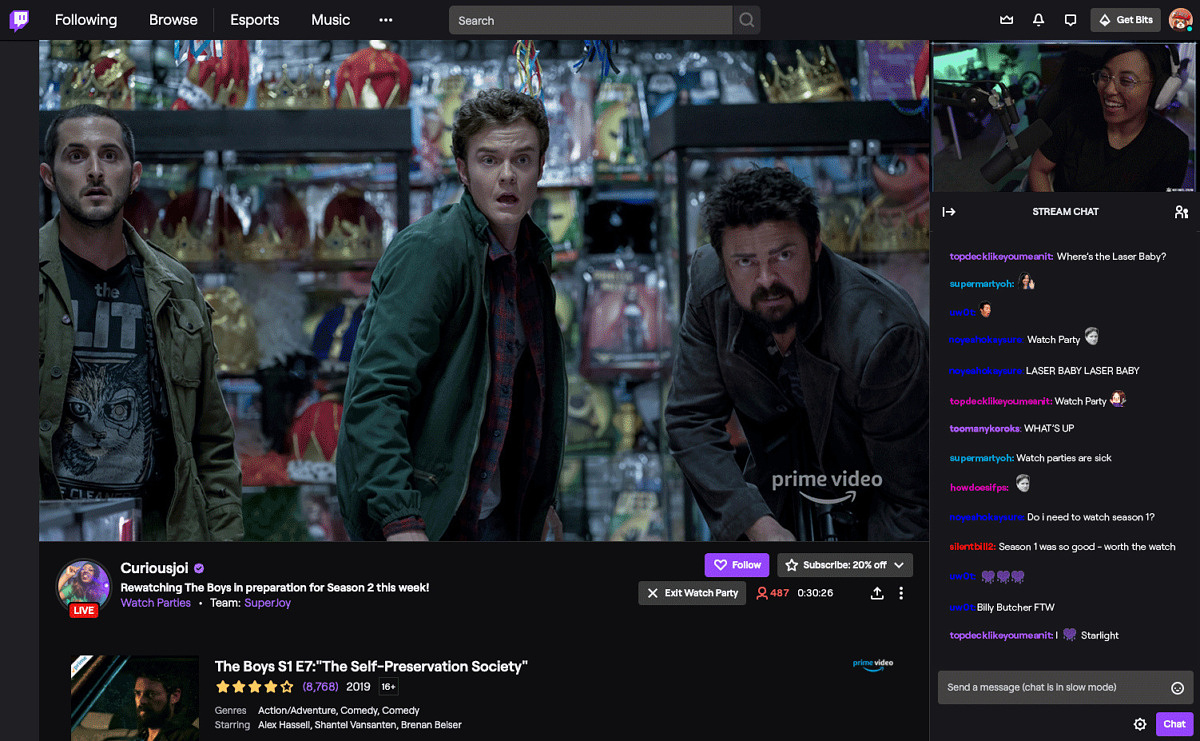Twitch now lets you join Watch Parties from an Android or iOS device