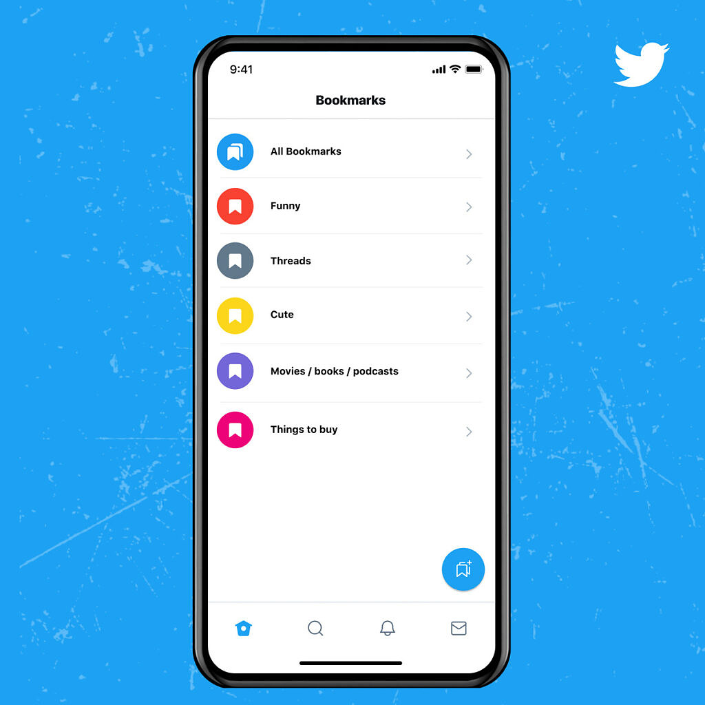 Twitter Blue subscription feature - bookmark sort