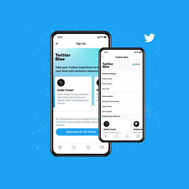 Twitter launches Twitter Blue, a subscription service that adds new features