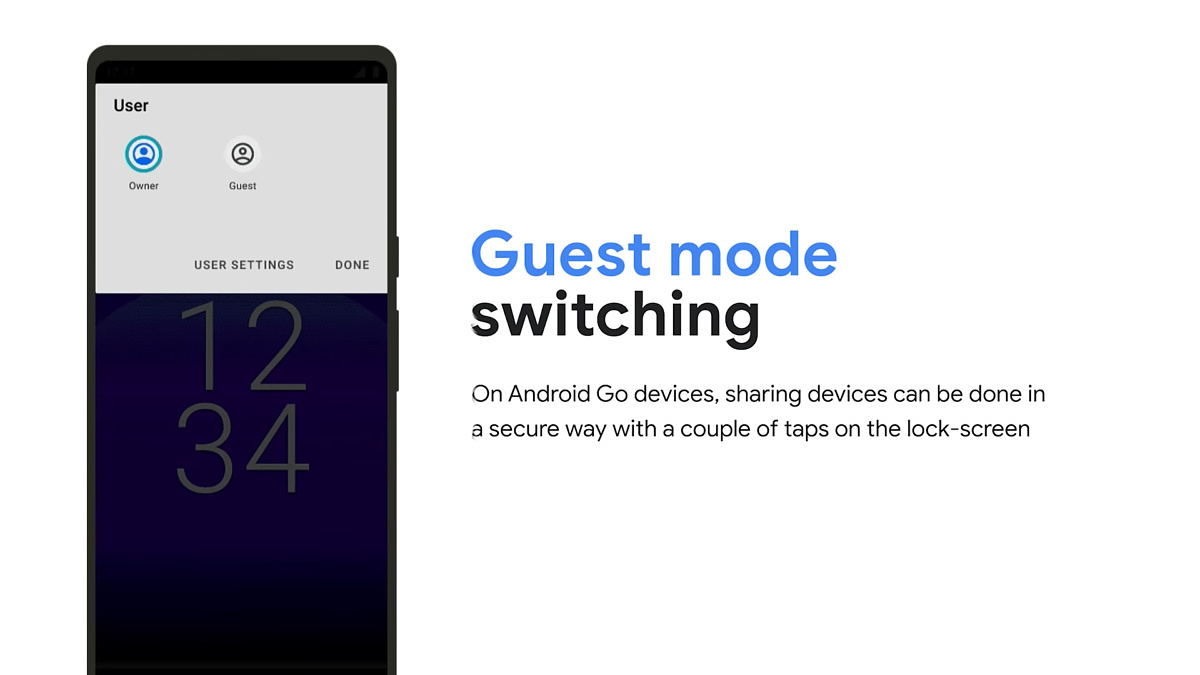 Google is making it easier to switch to guest mode on Android Go devices