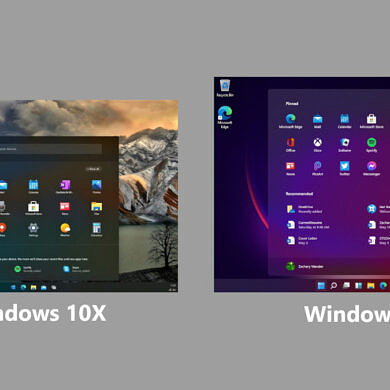 Windows 11 takes some obvious design cues from Microsoft's canceled Windows 10X