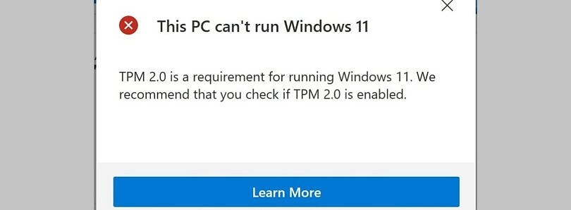Here's why you can't run Windows 11 without a TPM