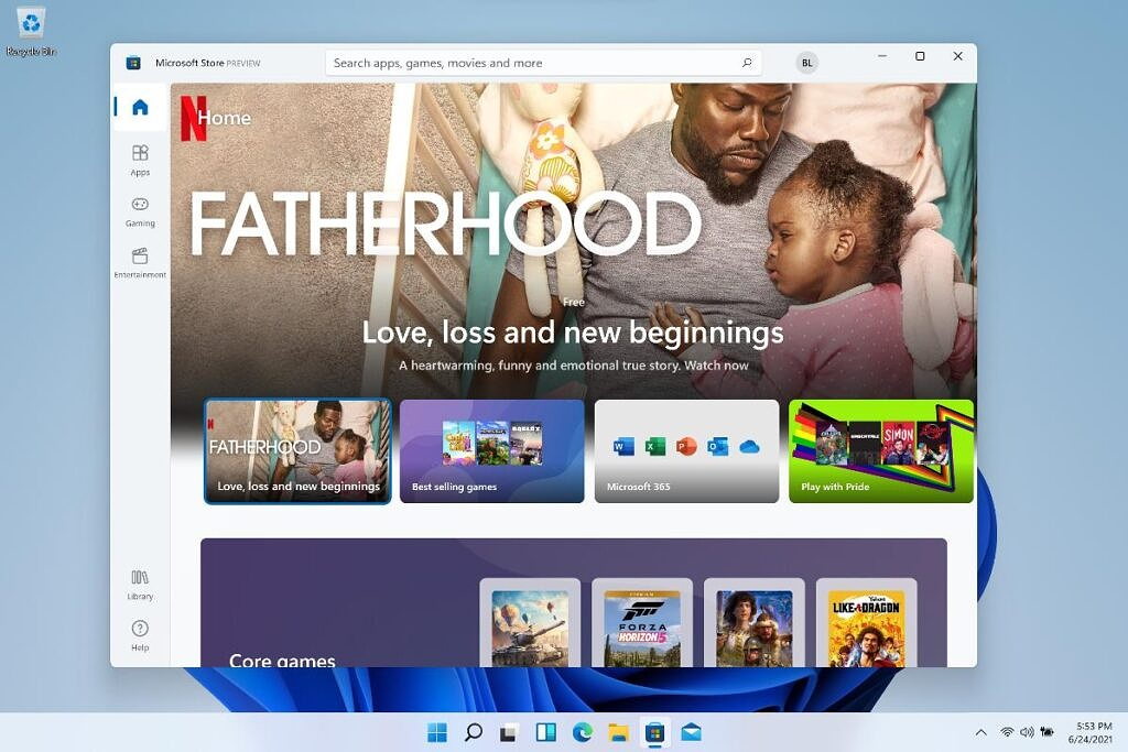 Microsoft Store in Windows 11 preview