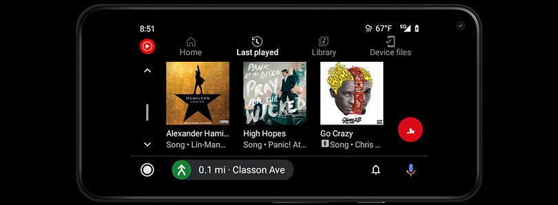 YouTube Music for Android Auto gets a minor UI refresh
