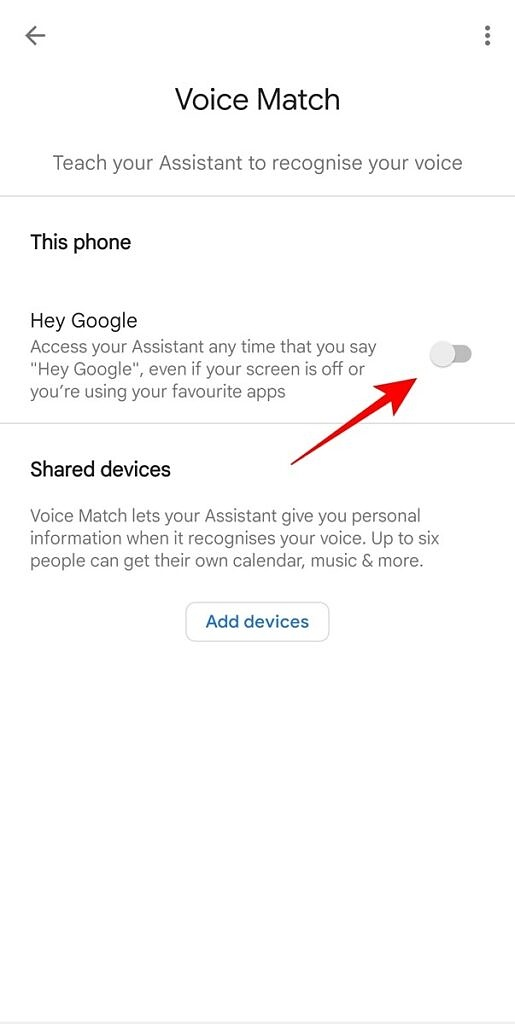 Google Assistant - Hey Google enable