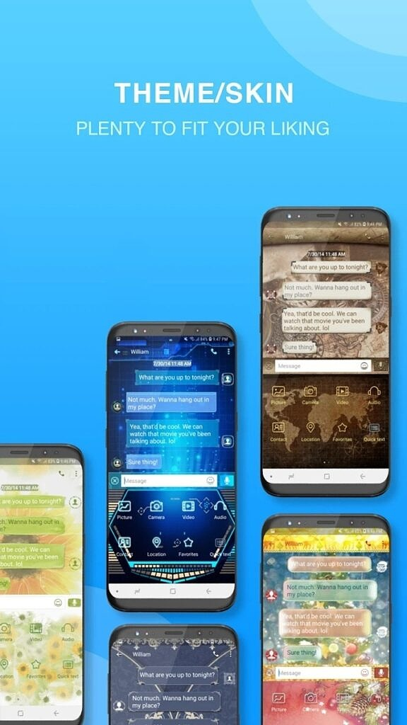 Handcent Next SMS themes