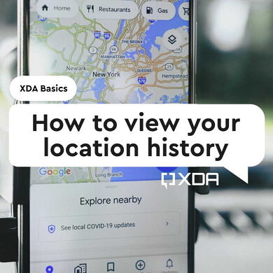 XDA Basics: How to view your Location History in Google Maps, and How to turn it off