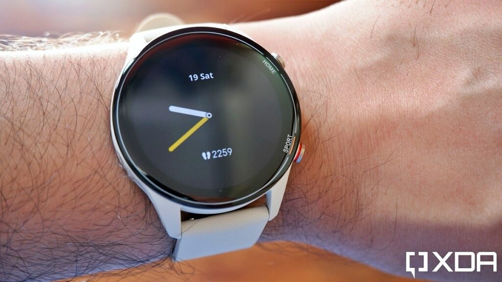 Mi Watch Revolve Active standby face on hand