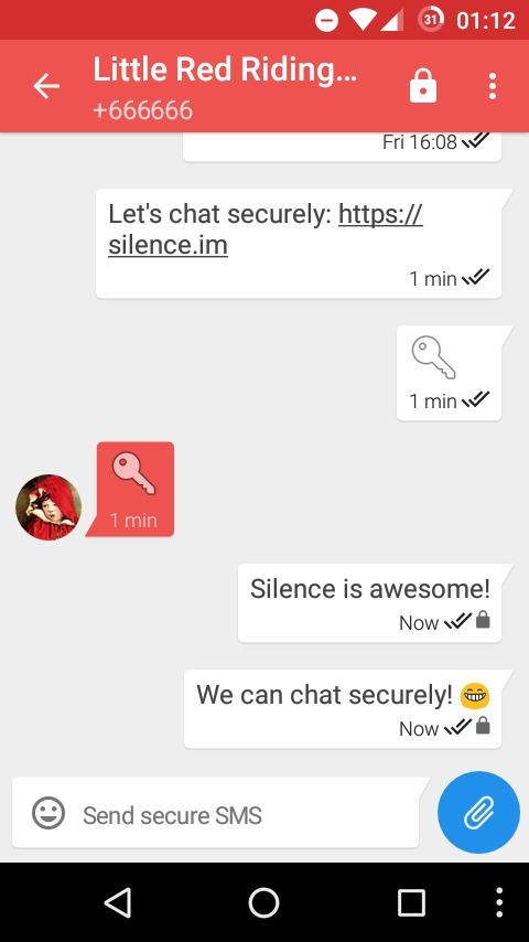 Silence secure message
