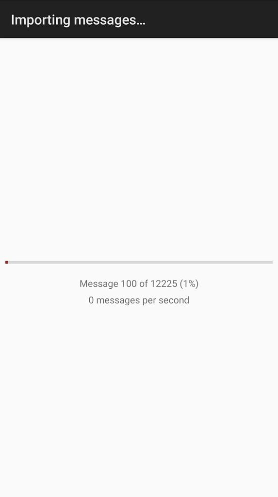 iSMS2droid import