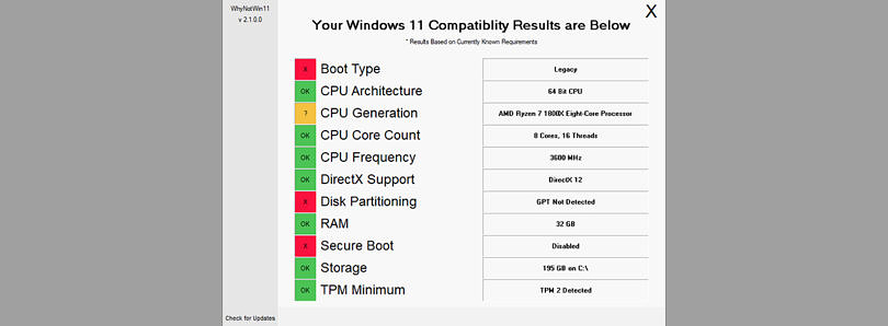 This tool tells you exactly why your PC can't run Windows 11