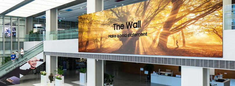 Samsung unveils a 1000-inch MicroLED display with up to 16K resolution
