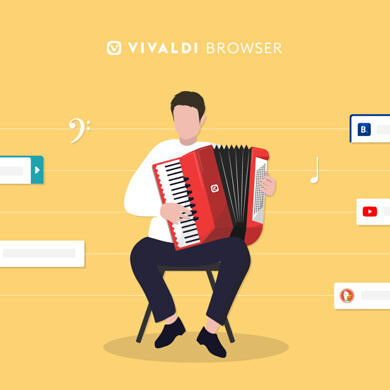 Vivaldi's latest update includes Accordian Tabs and Command Chains
