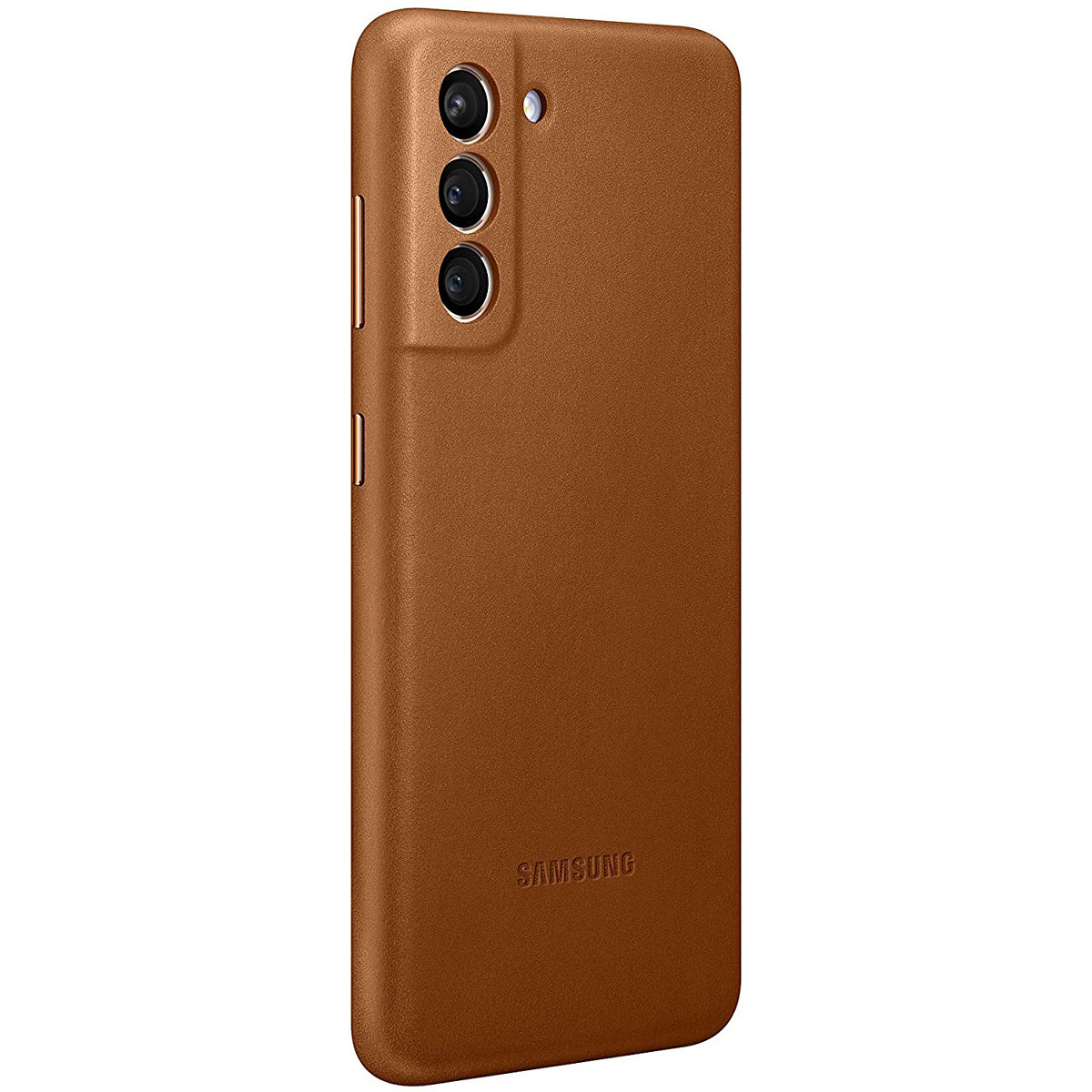 Galaxy S21 Brown Leather Cover
