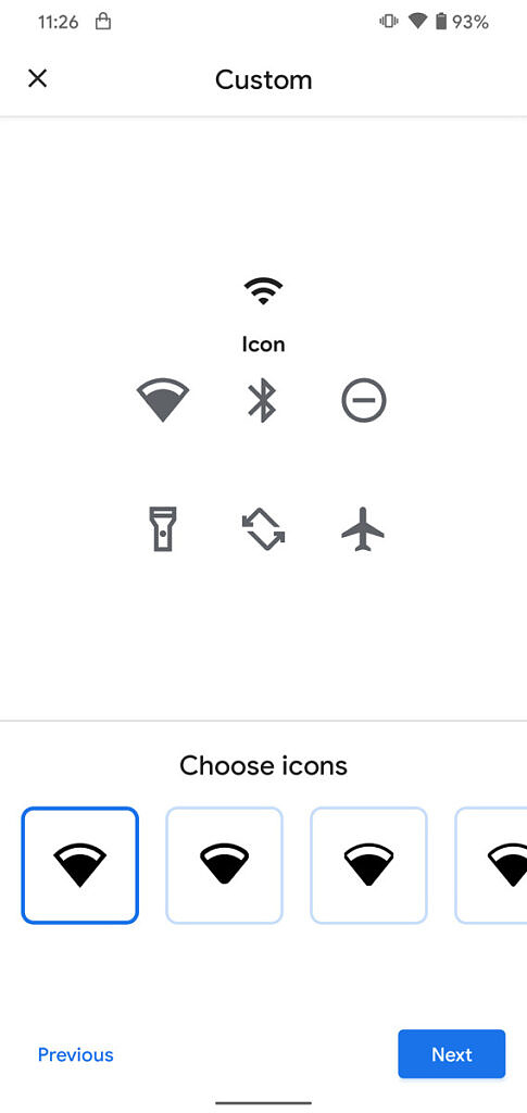 Android 11 custom icons