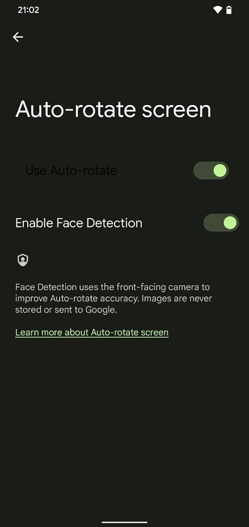 Enable Face Detection for auto-rotate screen in Android 12