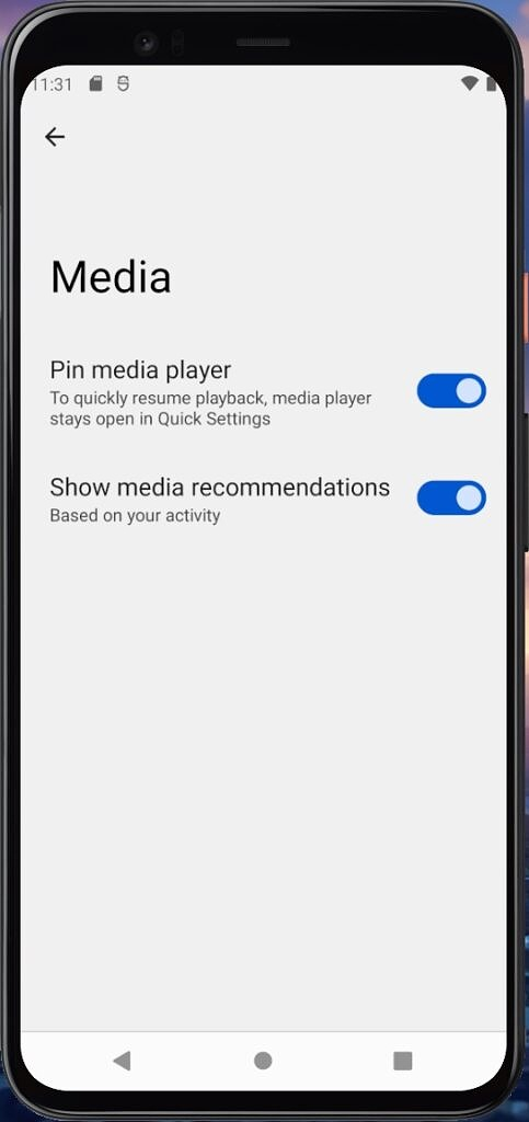 Android 12 Beta 3 media recommendations