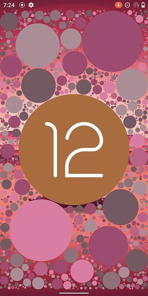 Android 12 Easter egg clock red bubbles
