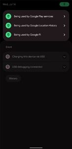Location indicator alerts in Android 12