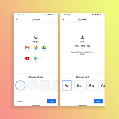 Android 12 is missing font and icon shape customization, and some users aren't happy