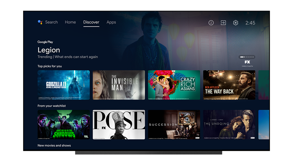 Android TV's Discover tab is getting 3 new features including a watchlist