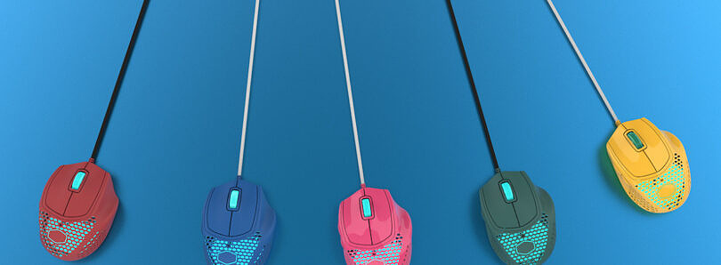 Cooler Master's new gaming mice feature five different colors from NachoCustomz