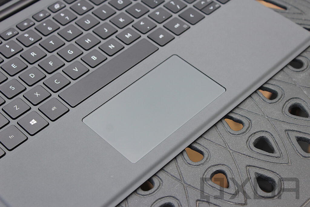 Angled view of Dell Latitude 7320 Detachable touchpad