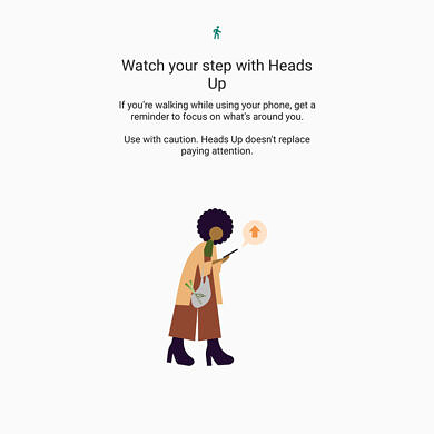 """Digital Wellbeing's """"Heads Up"""" feature rolls out to more Android phones to stop distracted walking"""
