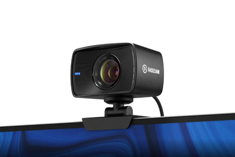 Elgato Facecam mounted on monitor