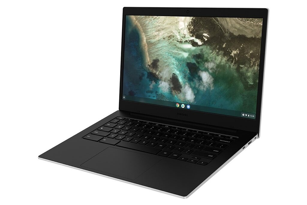 Galaxy Chromebook Go right angled view