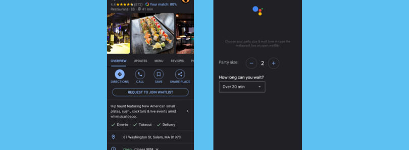Google Assistant may soon be able to add your name to a restaurant's waitlist