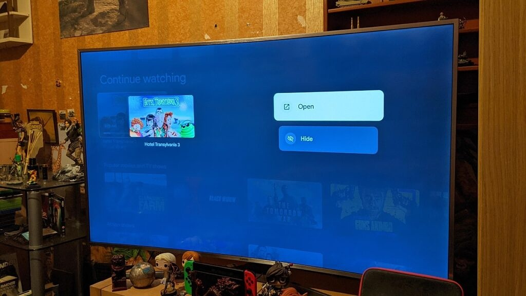 Google TV hide items from continue watchin