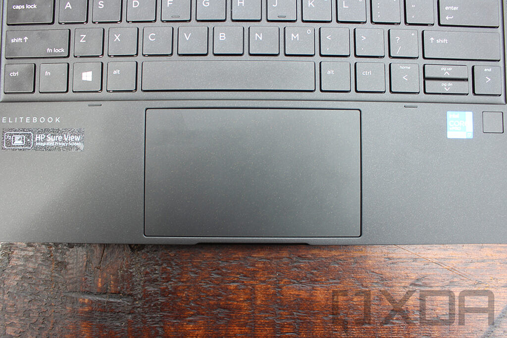 Close up of HP Elite Dragonfly Max touchpad