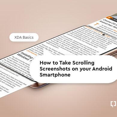 XDA Basics: How to take Scrolling Screenshots on your Android smartphone
