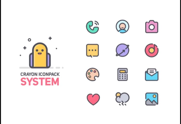 Crayon icon pack
