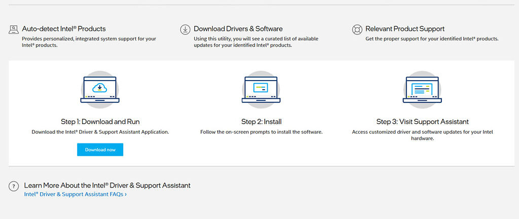 intel driver and support assistant application