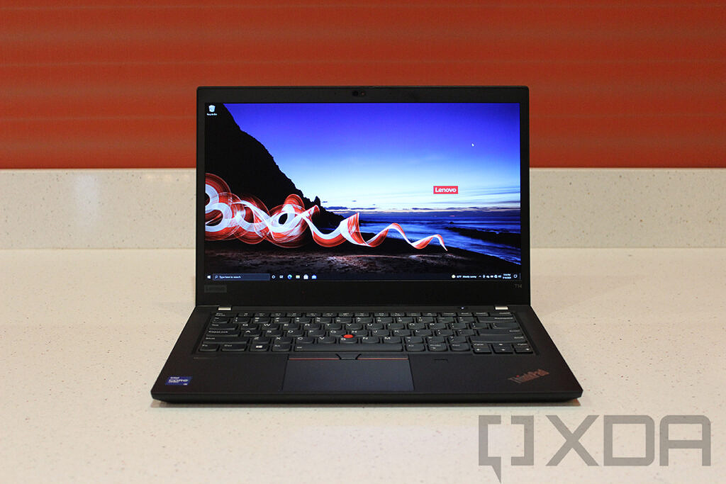 Front view of Lenovo ThinkPad T14 Gen 2