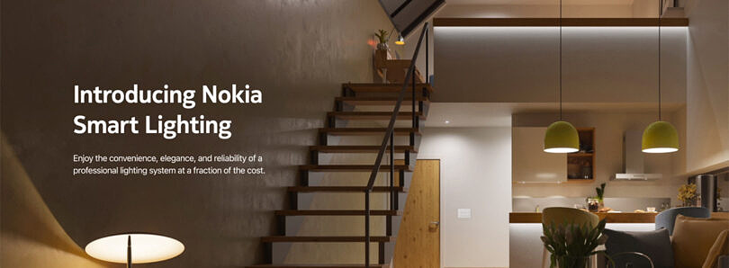 Nokia is lending its name to a new line of smart home lighting products