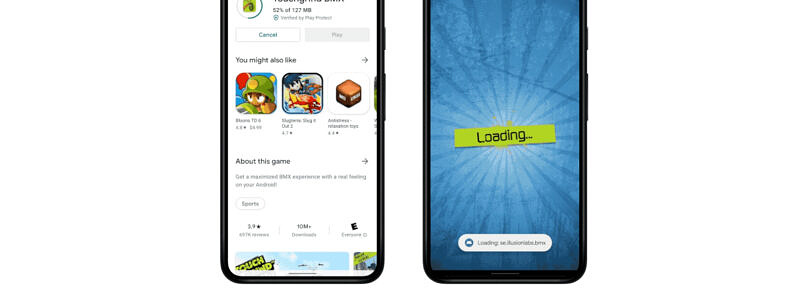 Android 12 can let you play games before they're done downloading
