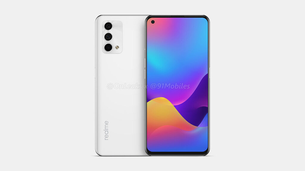 Realme GT Master Edition white leaked render