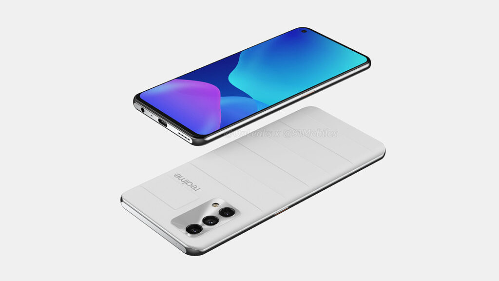 Realme GT Master Edition gray leather leaked render