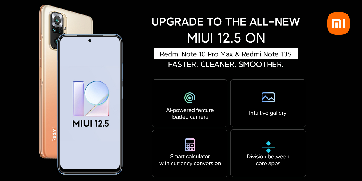 MIUI 12.5 beta is now available for the Redmi Note 10 Pro Max, Note 10S