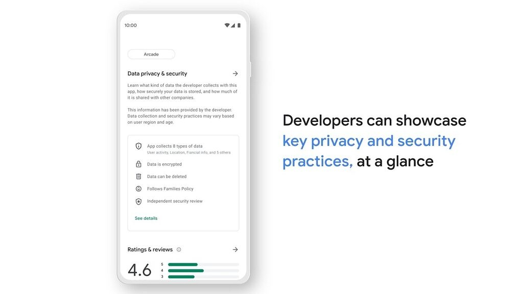 Safety section in Google Play