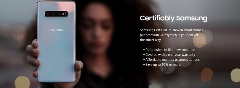 Save $350 on a Galaxy S20 with Samsung's Certified Re-Newed program